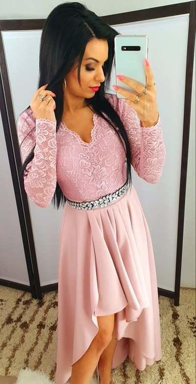 Sukienka Rebi Brudny Róż